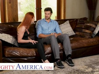 Naughty America - Lacy Lennon cheats on husband with his employee