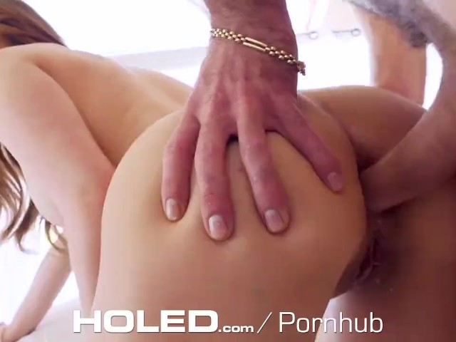 Holed Huge Tit Jogger Anal Fucked With Dripping Creampie