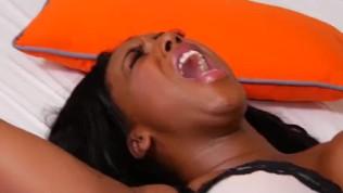 Big booty black girl wrestles with an Anaconda dick