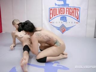 lesbian wrestling trailer porn star takes on blond beautiful mistress