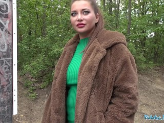 Public Agent Anna Polina gets her big perfect boobs out for a good fucking