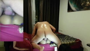 Anal Threesome XXX  THREESOME WITH 2 THAI GIRLS SMALL BABE AND BBW