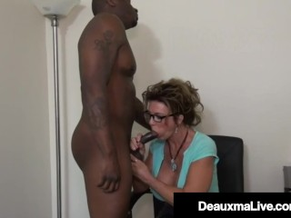 Southern Cougar Deauxma Mouth Bangs A Big Black Cock