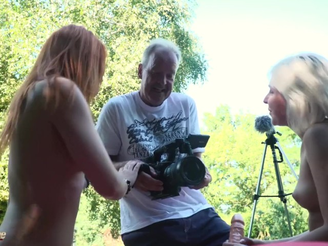 Old Man Has Hardcore Threesome Fuck With Beautiful Teens Hungry for Cock