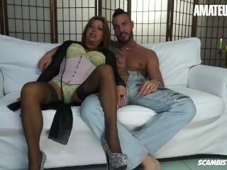 AmateurEuro - Rough SEX On The Couch Wit h Mature Italian Slut