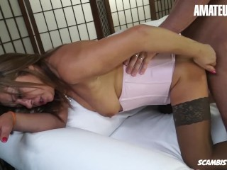 AmateurEuro – Tough SEX On The Sofa Wit h Horny mom euro Bitch