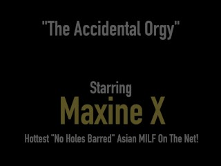 Gang Banged Cambodian Cougar Maxine-X & Selah Rain Butt Banged By 6 BBCs!