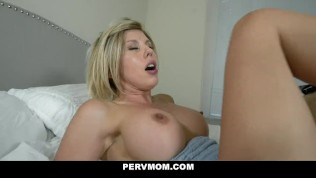 PervMom - Busty Milf Milks Her Stepson's Big Cock