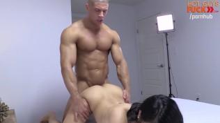 Superstar BodyBuilder Fucks His Roomates Asian Girl. DAMN DOG!