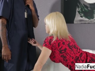 Nadia pays her mover with some fucking