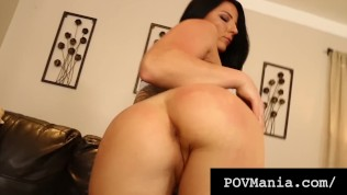 POVMania.com - Hot Beauty Casey Cumz Saves Her Spit To Milk A Cock!