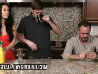 Digital playground - Eva Lovia, and Aria Alexander share cock in parody