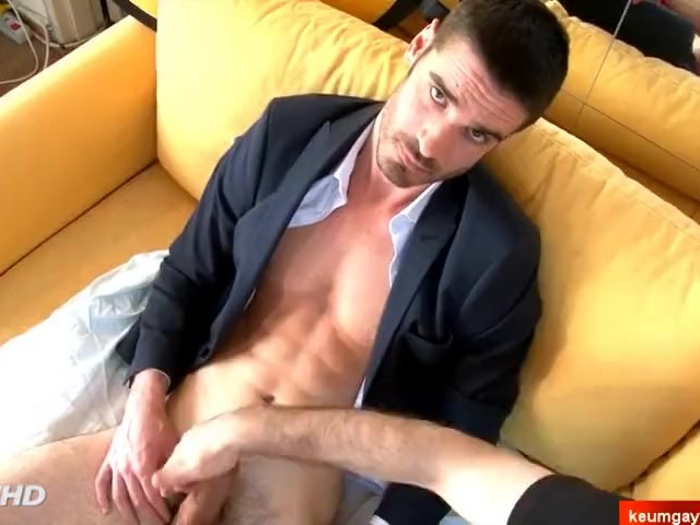 naked muscular male amateur salesman