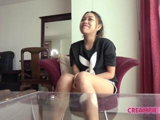 Pudgy Thai Bar Chick Bareback Creampie