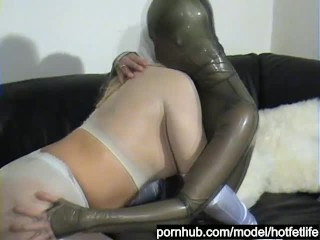 Lesbian Teens Encased In Shiny Nylon Pantyhose And Latex Suits Have Fun