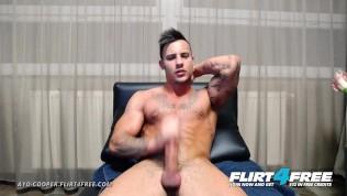 Flirt4Free – Ayo Cooper – Hottie w Extreme Monster Cock Jerks Off Big Load