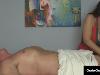 Massage Parlor Cougar Charlee Chase Makes Guy Cum Two Times