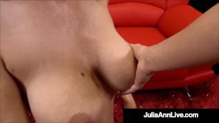 Busty Mega Milf Julia Ann Performs A Cumtastic Work Of Art On A Hard Cock!