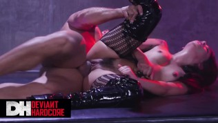 Deviant Hardcore - Caged slave Gina Valentina loves anal and deepthroat