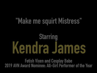 Reverse Femdom! Slave Kendra James Bound & StrapOn Fucked By Nyssa Nevers!