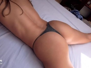 Horny couple has morning sex in bed - Amateur LeoLulu