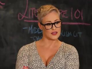 Naughty America - Prof. Conner fucks her virgin student