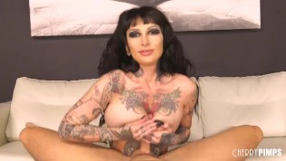 Tattooed Bombshell Jessie Lee Gets Harshly Fucked By Hard Cock
