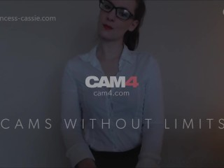 naughty assistant plays with her wet pussy and squirts at her desk - cam4
