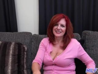 Dick/on dick redhead creams tit