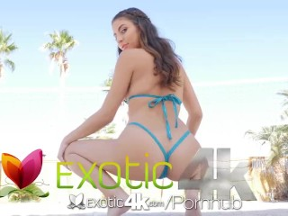 EXOTIC4K Teasing Beach Body Babe Gets The Big Dick