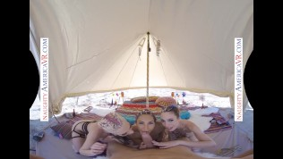 naughty america - vr you get to quickie 3 chicks in the desert