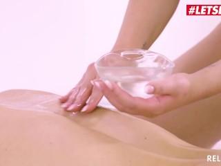 LETSDOEIT - Sexy Massage Girl Cums Hard On Her Client's Big Cock
