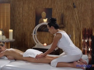 Massage Rooms Big tits babes Emily Bright and Shalina Devine oily orgasms