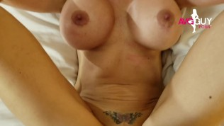 Hot Blonde Milf Milks Lucky Fan All Over Her Huge Fake Tits After Fucking
