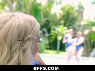 BFFS - Hot Fit Teens Get Dicked Down By Coach