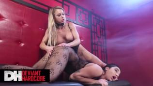 Deviant Hardcore - Busty blonde Dom Alix Lynx punishes her slave Karlee