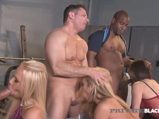 Private Black - Amy Brooke, Carla Cox & Bobbi Starr Do Interracial Orgy!