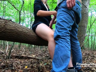 Fabulous forest fuck! Risky outdoor sex with sweet blonde ❤