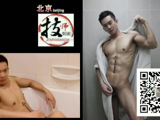 asian guys doggy pussy play and cumshots