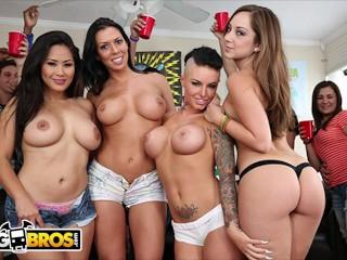 Bangbros - Three Hot Pornstars Crash A College Party And Chaos Ensues