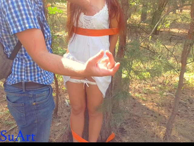 Girl Gets Tied Up Fucked Hard