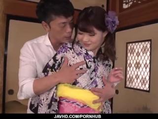 Maya Kawamura made to suck before being fucked hard