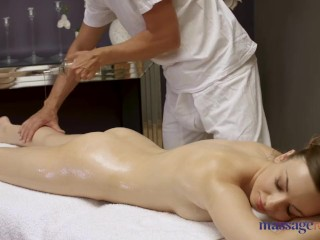Massage Rooms Perky tits Euro babe Lilit Sweet erotic massage and creampie