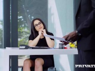 PrivateCom - Hot Ginebra Bellucci Has Poolside Interracial Anal Fuck!