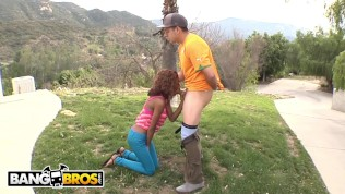 BANGBROS - Interracial Sex With Shy Young Black Girl Up In The Mountains