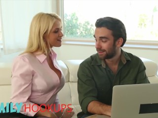 Family Hookups- Blonde Milf Sarah Vandella fucks stepson