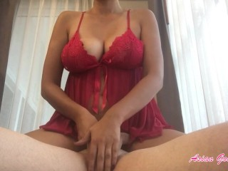 Queen of handjobs massages balls and cock (huge cumshot) - AsianGoodGirl