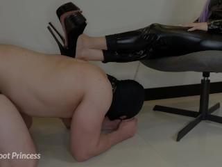 Femdom Slave Foot Worship - Little Foot Princess