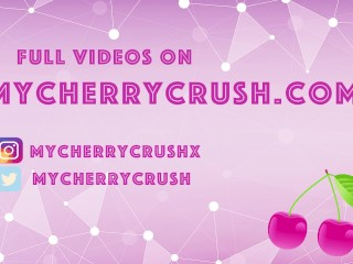 Cherry Crush - Cosplay Anime girl with cute booty gives Blowjob and anal