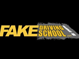 Fake Driving Schooll hot cute hot teen brunette tight pussy fucked